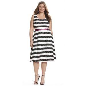 Lane Bryant Lace Dress 👗 Black & White